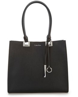 Smooth Faux-leather Tote