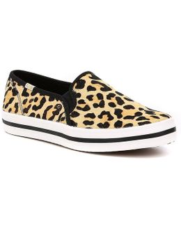 Keds For Double Decker Leopard Printed Pony Sneakers