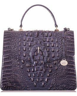 Melbourne Collection Gabriella Crocodile-embossed Top-handle Satchel