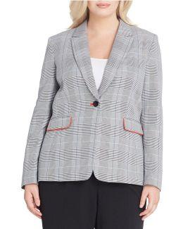 Plus Peak Notch Collar Jacket