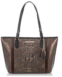 Cosimo Collection Medium Asher Crocodile-embossed Tasseled Tote