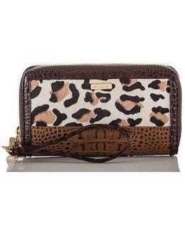 Capella Collection Zora Leopard-print Haircalf Wristlet
