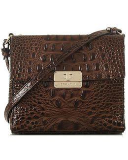 Melbourne Collection Manhattan Crocodile-embossed Cross-body Bag