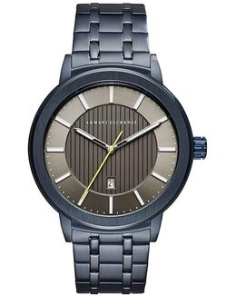 Ax Analog & Date Bracelet Watch