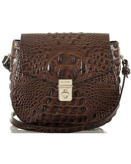 Melbourne Collection Lizzie Crocodile-embossed Cross-body Bag