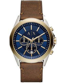 Ax Drexler Chronograph Leather-strap Watch