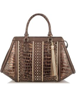 Palermo Collection Arden Tasseled Studded Satchel