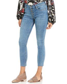 Reagan Raw Hem Cropped Skinny Jeans
