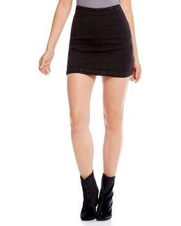 Denim Modern Femme Mini Skirt