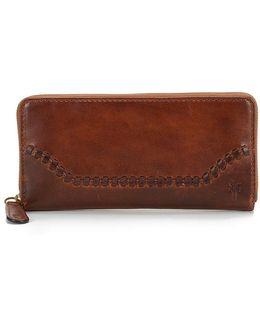 Melissa Whip-stitched Zip Wallet