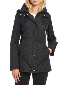 Quilt Snap Front Jacket