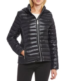 Horizontal Puffer Packable Down Jacket