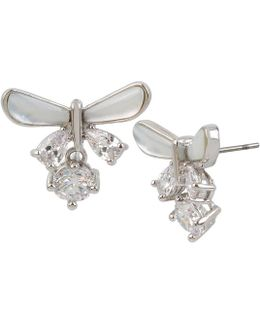 Blue By Butterfly Mother-of-pearl & Cubic Zirconia Stud Earrings