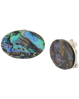 Abalone Clip-on Earrings