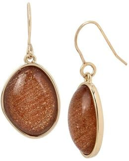 Faux-citrine Drop Earrings