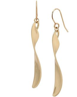 Twisted Linear Drop Earrings