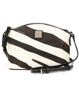 Serengeti Collection Ruby Zebra-print Cross-body Bag