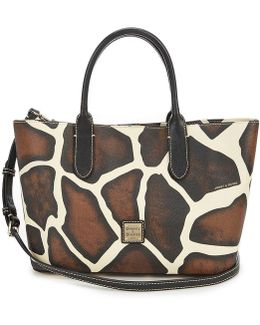Serengeti Collection Brielle Giraffe-print Satchel