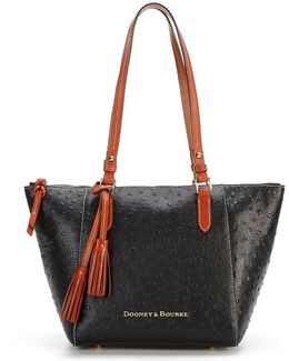Ostrich Collection Tasseled Maxine Tote