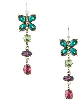 Colorful Butterfly Linear Statement Earrings