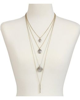 Rock Crystal Convertible Multi-strand Necklace