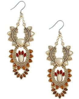 Sunburst Statement Drop Earrings