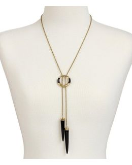 Leather-wrapped Bolo Necklace