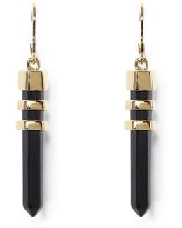 Long Bullet Drop Earrings