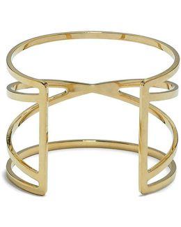 Goldtone Crisscross Cuff