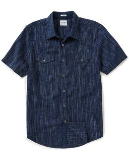 Short-sleeve Gunner Linear Lyocell Shirt