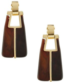 Mulholland Mod Linear Drop Statement Earrings