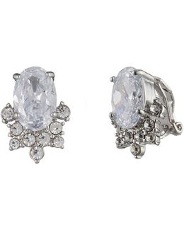 Imperial Sky Oval Cluster Clip-on Earrings