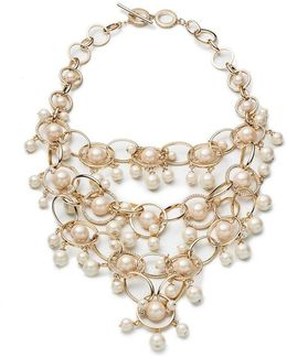 Majestic Pearl Statement Necklace