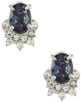 Imperial Sky Mini Oval Stud Earrings