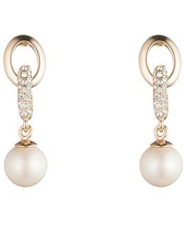 Majestic Pearl Link Drop Earrings