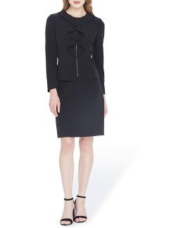 Ruffle-front Skirt Suit