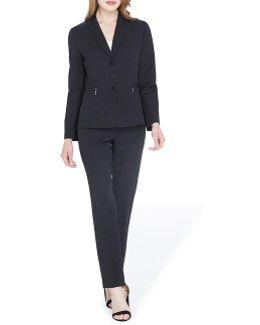 Shadow-stripe Pant Suit