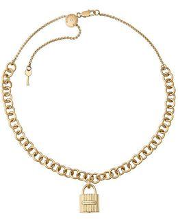 Hamilton Padlock Choker Necklace