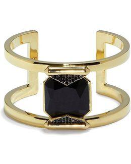 Pav Crystal T Cuff Bracelet