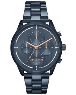 Slater Pav Chronograph Bracelet Watch
