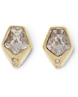 Faux-crystal Stud Earrings