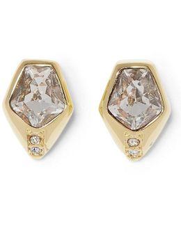 Faux-crystal Stud Earrings