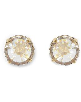 Rivoli Cubic Zirconia Pav Stud Earrings