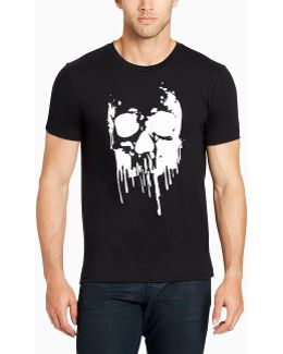 Black Skull Of Drips Short-sleeve Graphic T-shirt