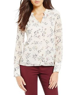 Tuscan Flower Print Georgette Top