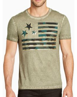 Camo Flag Short-sleeve Graphic T-shirt