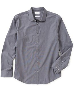 Infinite Cool Bi-stretch Chambray Long-sleeve Woven Shirt