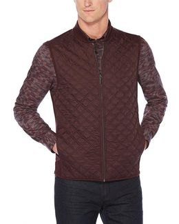 Ponte Knit Full-zip Quilted Vest