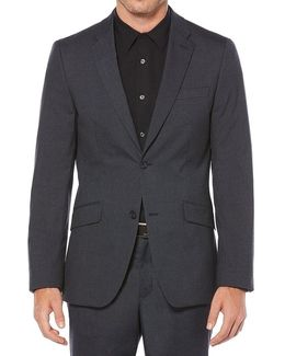 Slim-fit Stretch Heather Check Jacket