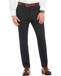 Slim-fit Flat-front Stripe Pants